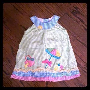 Rare Editions Girls Summer Dress w/ Diaper Cover.